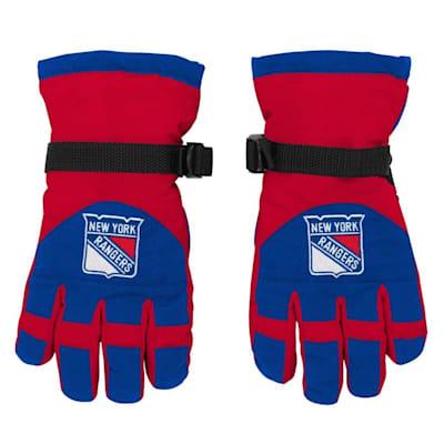 Front (Adidas Nylon Winter Gloves - New York Rangers - Youth)