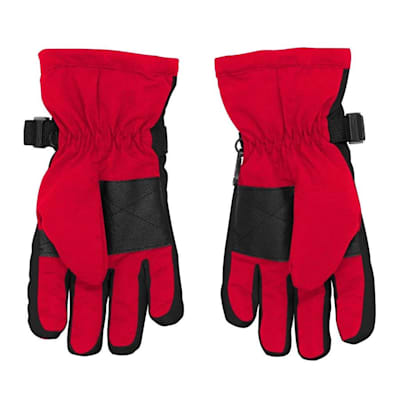 Back (Adidas Nylon Winter Gloves - Detroit Red Wings - Youth)