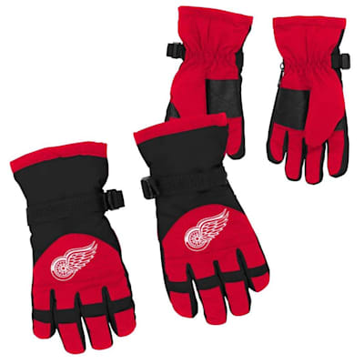 Both (Adidas Nylon Winter Gloves - Detroit Red Wings - Youth)