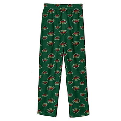 (Adidas Printed Pajama Pants - Minnesota Wild - Youth)