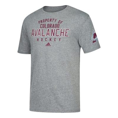 Front (Adidas NHL Property Short Sleeve Tee Shirt - Colorado Avalanche - Mens)