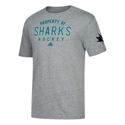 Front (Adidas NHL Property Short Sleeve Tee Shirt - San Jose Sharks - Mens)