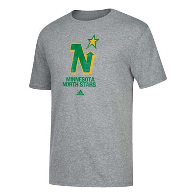 Front (Adidas Retro Short Sleeve Tee Shirt - Minnesota North Stars - Mens)