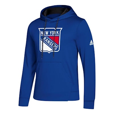 Front (Adidas NHL Performance Hoodie - New York Rangers - Mens)