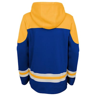 Back (Adidas St. Louis Blues Asset Pullover Hoodie - Youth)