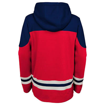 Back (Adidas Washington Capitals Asset Pullover Hoodie - Youth)