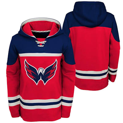 (Adidas Washington Capitals Asset Pullover Hoodie - Youth)