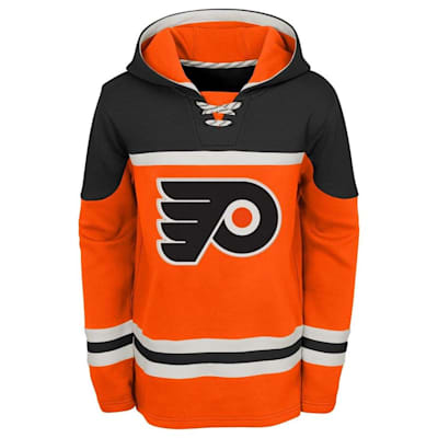 Front (Adidas Philadelphia Flyers Asset Pullover Hoodie - Youth)