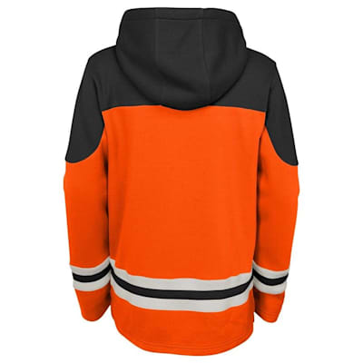 Back (Adidas Philadelphia Flyers Asset Pullover Hoodie - Youth)
