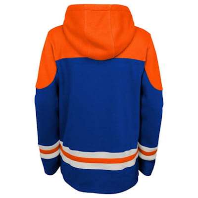 Back (Adidas New York Islanders Asset Pullover Hoodie - Youth)