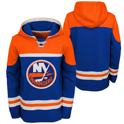 (Adidas New York Islanders Asset Pullover Hoodie - Youth)