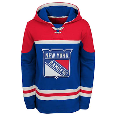 Front (Adidas New York Rangers Asset Pullover Hoodie - Youth)