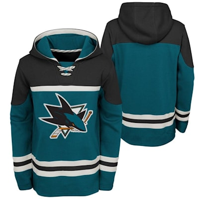 (Adidas San Jose Sharks Asset Pullover Hoodie - Youth)