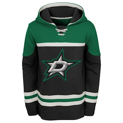 Front (Adidas Dallas Stars Asset Pullover Hoodie - Youth)