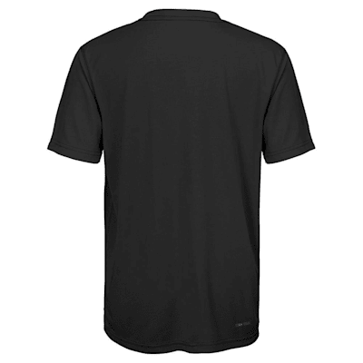 Back (Adidas Boston Bruins Avalanche Short Sleeve Tee Shirt - Youth)
