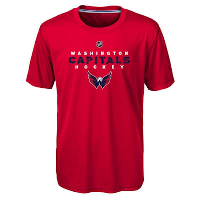 Front (Adidas Washington Capitals Avalanche Short Sleeve Tee Shirt - Youth)