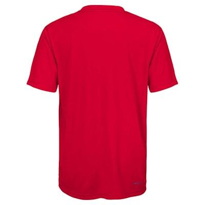 Back (Adidas Washington Capitals Avalanche Short Sleeve Tee Shirt - Youth)