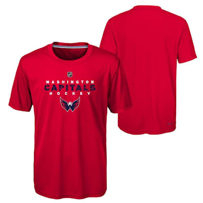 Washington Capitals (Adidas Washington Capitals Avalanche Short Sleeve Tee Shirt - Youth)
