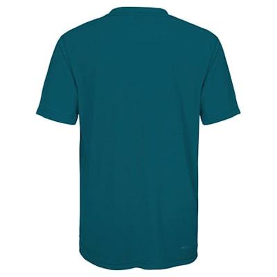 Back (Adidas San Jose Sharks Avalanche Short Sleeve Tee Shirt - Youth)