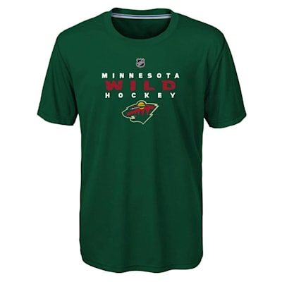 Front (Adidas Minnesota Wild Avalanche Short Sleeve Tee Shirt - Youth)
