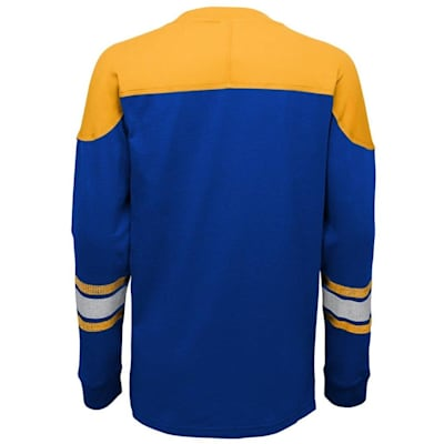 Back (Adidas St. Louis Blues Perennial Long Sleeve Tee Shirt - Youth)