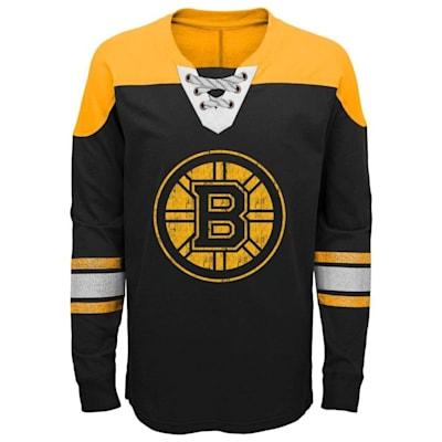 Front (Adidas Boston Bruins Perennial Long Sleeve Tee Shirt - Youth)