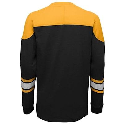 Back (Adidas Boston Bruins Perennial Long Sleeve Tee Shirt - Youth)