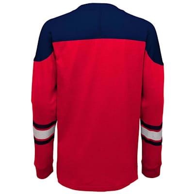 Back (Adidas Washington Capitals Perennial Long Sleeve Tee Shirt - Youth)