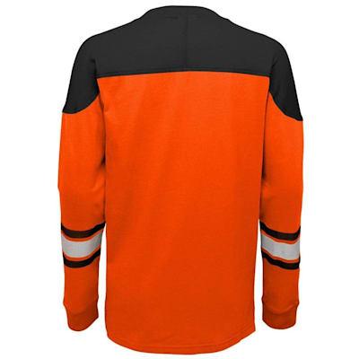 Back (Adidas Philadelphia Flyers Perennial Long Sleeve Tee Shirt - Youth)