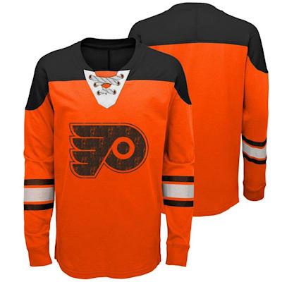 Philadelphia Flyers (Adidas Philadelphia Flyers Perennial Long Sleeve Tee Shirt - Youth)