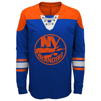 Front (Adidas New York Islanders Perennial Long Sleeve Tee Shirt - Youth)
