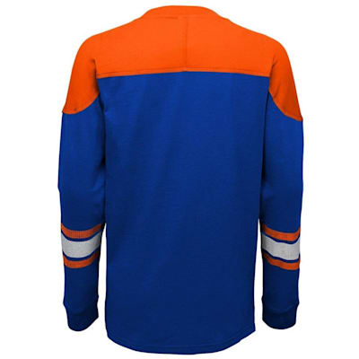 Back (Adidas New York Islanders Perennial Long Sleeve Tee Shirt - Youth)