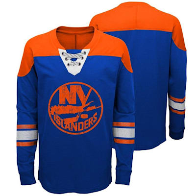 New York Islanders (Adidas New York Islanders Perennial Long Sleeve Tee Shirt - Youth)