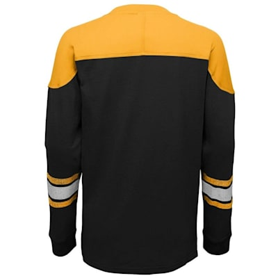 Back (Adidas Pittsburgh Penguins Perennial Long Sleeve Tee Shirt - Youth)