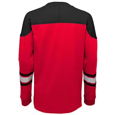 Back (Adidas Detroit Red Wings Perennial Long Sleeve Tee Shirt - Youth)