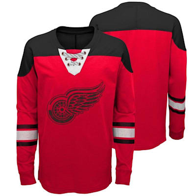 Detroit Red Wings (Adidas Detroit Red Wings Perennial Long Sleeve Tee Shirt - Youth)