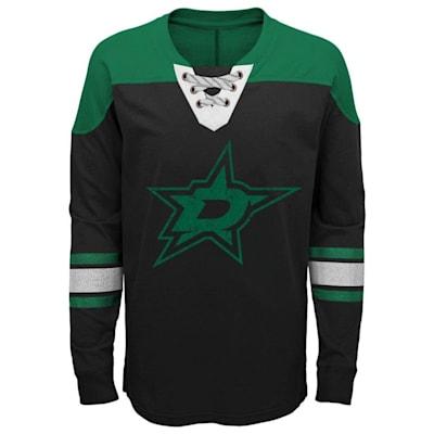 Front (Adidas Dallas Stars Perennial Long Sleeve Tee Shirt - Youth)