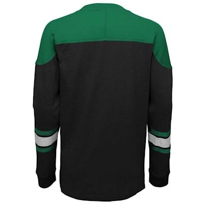 Back (Adidas Dallas Stars Perennial Long Sleeve Tee Shirt - Youth)