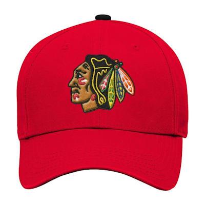 Front (Adidas Chicago Blackhawks Basic Youth Hat)