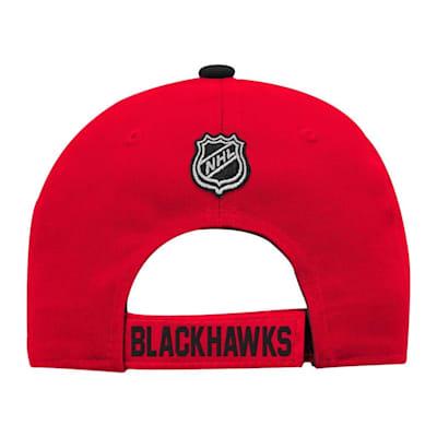 Back (Adidas Chicago Blackhawks Basic Youth Hat)