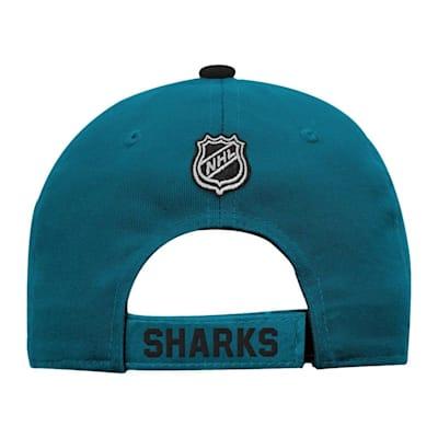 Back (Adidas San Jose Sharks Basic Youth Hat)