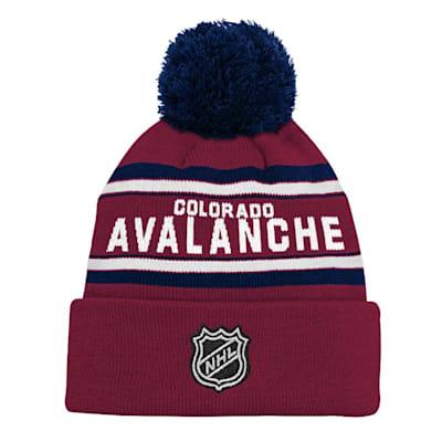 Back (Adidas Colorado Avalanche Youth Pom Knit Hat)