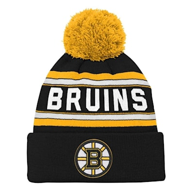 Front (Adidas Boston Bruins Youth Pom Knit Hat)