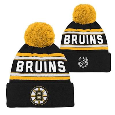 Boston Bruins (Adidas Boston Bruins Youth Pom Knit Hat)