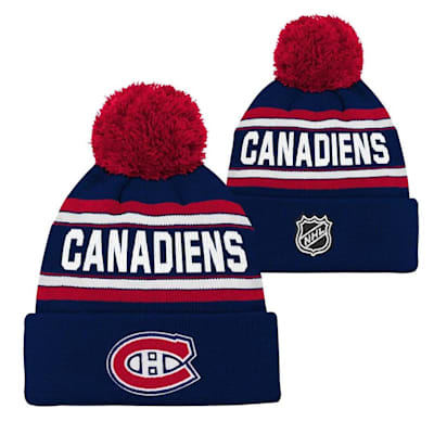 Montreal Canadiens (Adidas Montreal Canadiens Youth Pom Knit Hat)