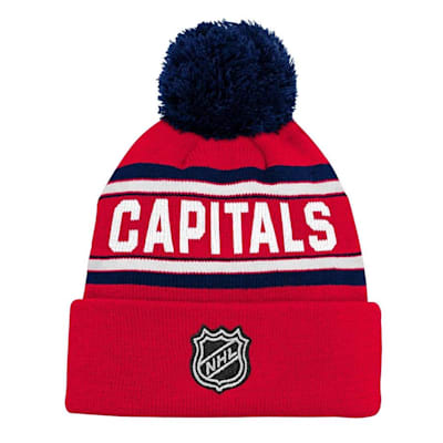 ae9819b8 Adidas Washington Capitals Youth Pom Knit Hat | Pure Hockey Equipment