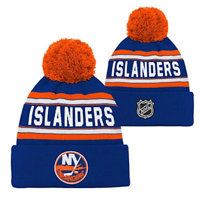 New York Islanders (Adidas New York Islanders Youth Pom Knit Hat)