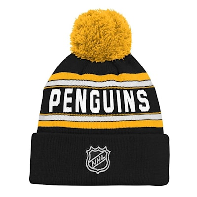Back (Adidas Pittsburgh Penguins Youth Pom Knit Hat)
