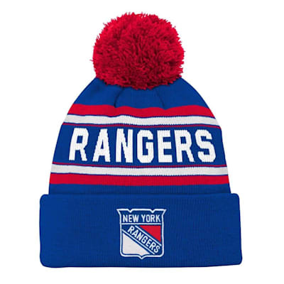 Front (Adidas New York Rangers Youth Pom Knit Hat)