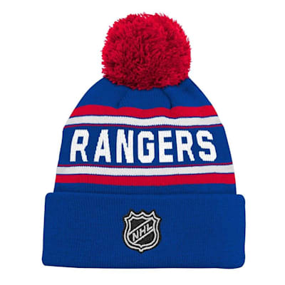 Back (Adidas New York Rangers Youth Pom Knit Hat)